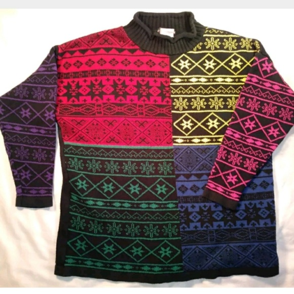 4f434aae9 Esprit Sweaters - Vintage 80 s ESPRIT Baggy Women s Primary Colors